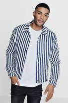 boohoo Striped Coach Jacket