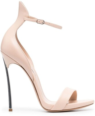 Casadei High-Heeled Leather Sandals