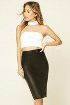 Forever 21 FOREVER 21+ Contemporary Faux Leather Skirt