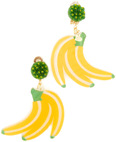 Mercedes Salazar Fiesta Banana Clip On Earrings