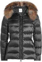 Moncler Tatie Quilted Down Jacket with Fur-Trimmed Hood