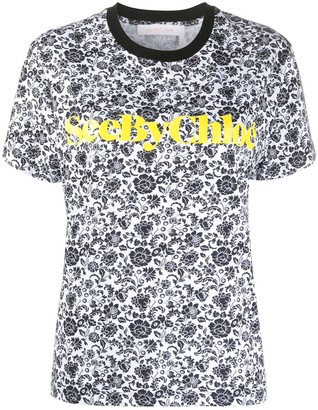 See by Chloe floral print T-shirt