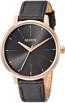 Nixon Women's 'Kensington' Quartz Metal and Leather Watch, Color:Black (Model: A1081098-00)