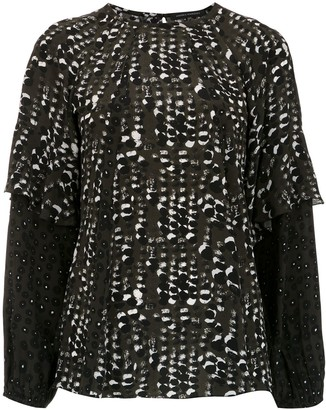 Andrea Marques Printed Long Sleeved Top