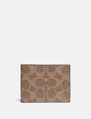 Coach Slim Billfold Wallet In Signature Canvas