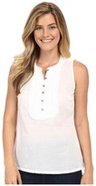 Stetson White Voile Sleeveless Western Shirt