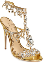 Marchesa Crystal \u0026 Gold leather Grace Sandal