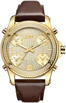 JBW Men's J6354A Jet Setter 1.36 ctw 18k -plated stainless-steel Diamond Watch