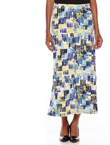 BLACK LABEL BY EVAN-PICONE Evan-Picone Geo Square Print Maxi Skirt