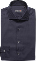 Corneliani Pindot-patterned cotton shirt