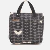 Orla Kiely Women's Linear Stem Small Backpack - Jet