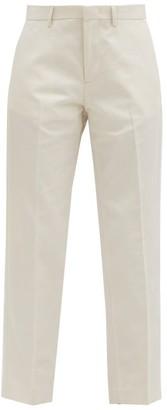 A.P.C. Raphaelle Cropped Cotton-blend Gabardine Trousers - Ivory