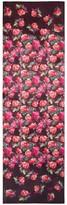 St. John Pink Roses Print Silk Georgette Scarf