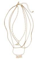 Topshop Women's Never Explain Multistrand Necklace