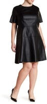Tart Carla Faux Leather Dress (Plus Size)