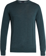 Lanvin Crew-neck wool and silk-blend sweater