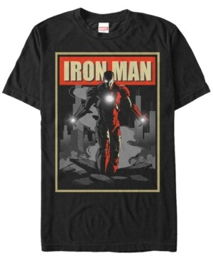 Marvel Men's Comic Collection Vintage Iron Man Poster Short Sleeve T-Shirt