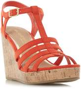 Head Over Heels Keeli T-Bar Cork Wedge Sandals