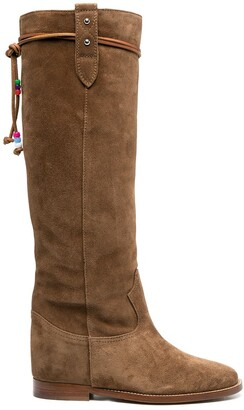 Via Roma 15 Suede Leather Boots