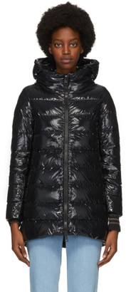 Herno Black Down Hilo A-Line Puffer Coat