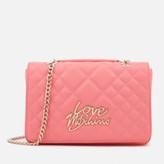 Love Moschino Women's Matt Quilted Flap Shoulder Bag - Pink