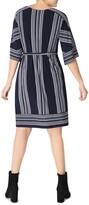 Thumbnail for your product : Sandra Darren Kimono Sleeve Belted Shift Dress
