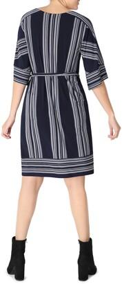 Sandra Darren Kimono Sleeve Belted Shift Dress