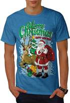 Christmas Santa Holiday Men XXXL T-shirt | Wellcoda