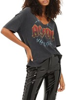 Topshop Women's Ac/dc Relaxed V-Neck Tee