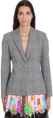 Versace Blazer In Grey Wool