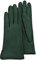 Forzieri Forest Green Calf Leather Women's Gloves w/Silk Lining