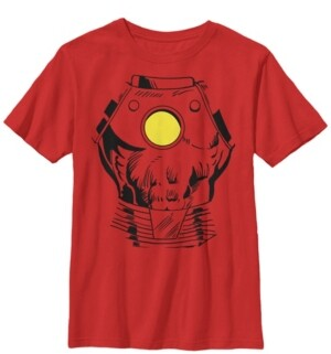 Fifth Sun Marvel Big Boy's Iron Man Suit Super Retro Halloween Cosplay Short Sleeve T-Shirt