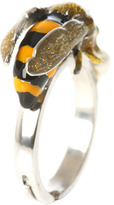 Delfina Delettrez Pearl & silver To bee or not to be ring