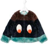 Bobo Choses colour-block faux-fur jacket