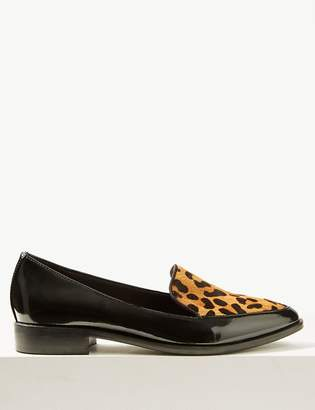 M&S CollectionMarks and Spencer Leather Block Heel Loafers