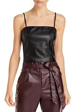 Lucy Paris Faux Leather Crop Top