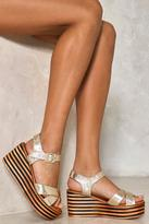Nasty Gal Rise To the Occassion Platform Sandals
