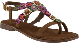 Spring Step Azura by Embellished Thong Sandals- Anatia