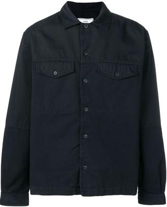 Ami Camp Collar Bi Material Overshirt