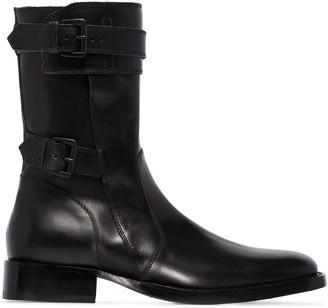 Ann Demeulemeester buckled combat boots