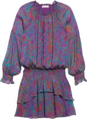 Ramy Brook Rosanna Long Sleeve Paisley Minidress
