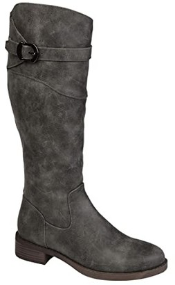 Journee Collection Brooklyn Boot - Extra Wide Calf (Grey) Women's Shoes