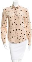 Dolce & Gabbana Silk Polka Dot Top