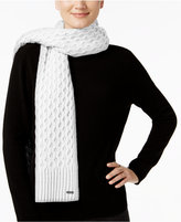 Calvin Klein Honeycomb Cable-Knit Scarf