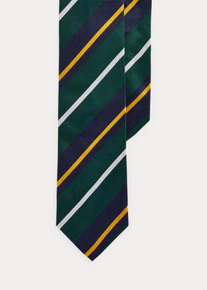 Ralph Lauren Striped Silk Narrow Tie