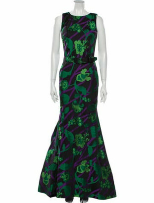 Oscar de la Renta Vintage Long Dress Black