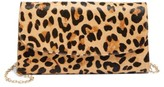 Nordstrom Genuine Calf Hair Leopard Print Clutch - Black