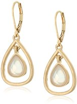 "lonna & lilly Touch of Twilight"" Gold-Tone/White Orbital Drop Earrings"