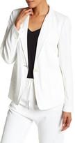 DKNY Notch Collar Long Sleeve Jacket