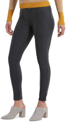 Hue Ankle-Length Pintucked Tweed Leggings